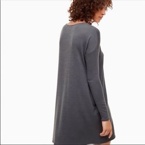 Aritzia Wilfred Free Gray Oversized Sweater Dress